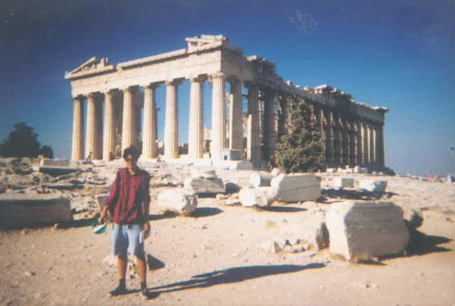 Watch and share In Front Of The Parthenon And How It Appears In Reconstructed Form In Nashville GIFs on Gfycat