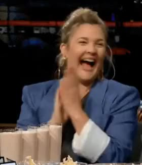 Watch Spill Your Guts or Fill Your Guts w/ Drew Barrymore GIF on Gfycat. Discover more clapping, drew barrymore, funny, happy, laughing, lol, sannahparker, the late late show GIFs on Gfycat