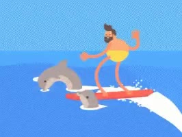 Watch and share Surf Dolphin GIFs on Gfycat