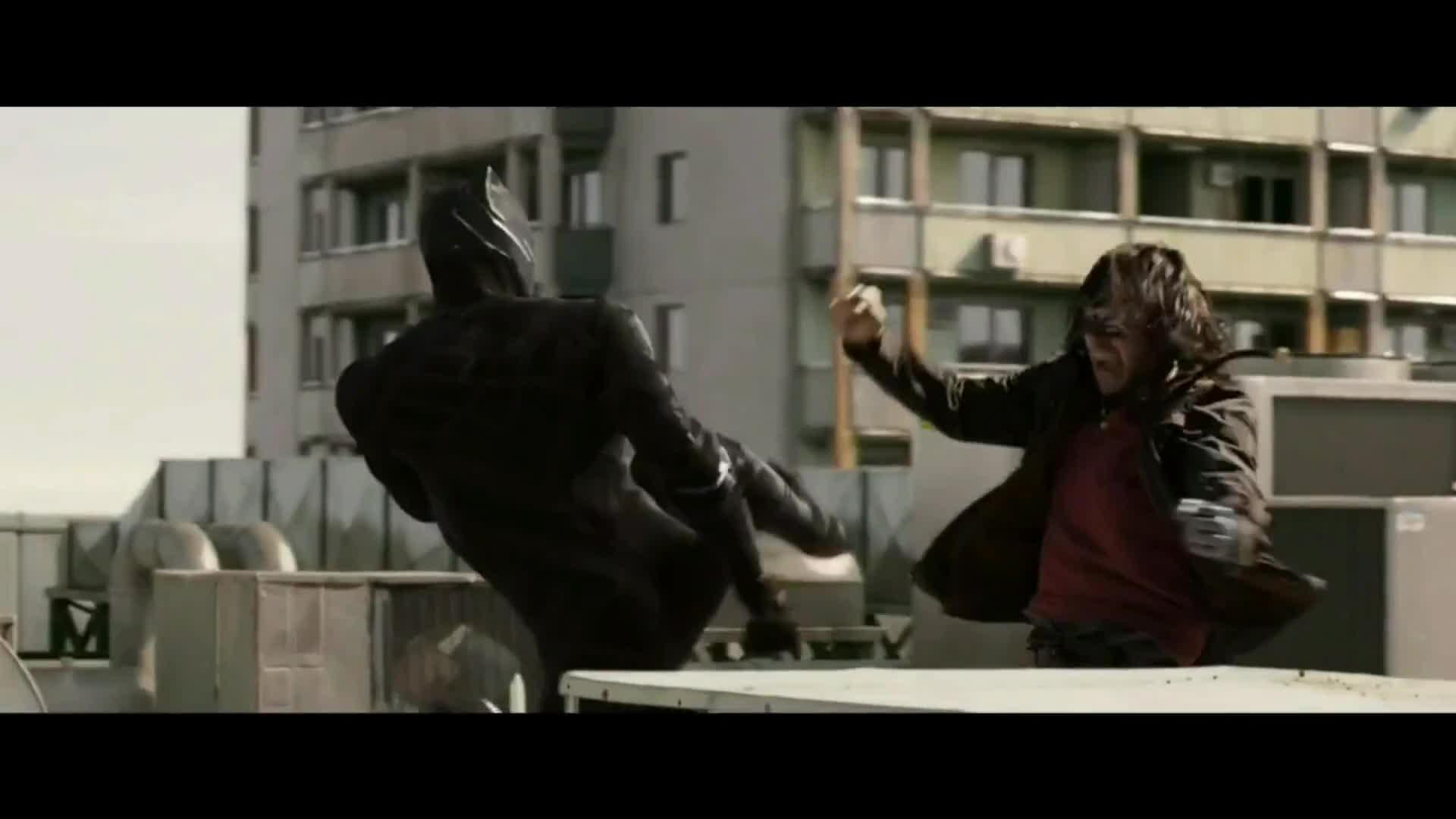 marvelstudios, Captain America: Civil War   Bucky Vs Black Panther   1080p Blu-Ray GIFs