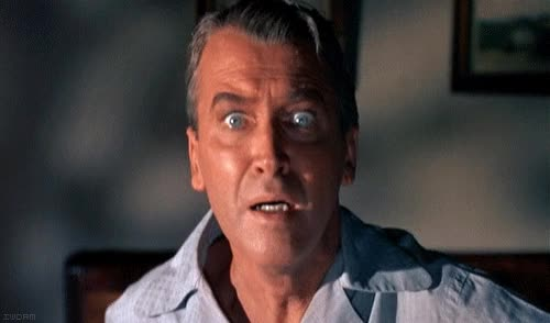 Watch and share Jimmy Stewart Terrified GIFs on Gfycat