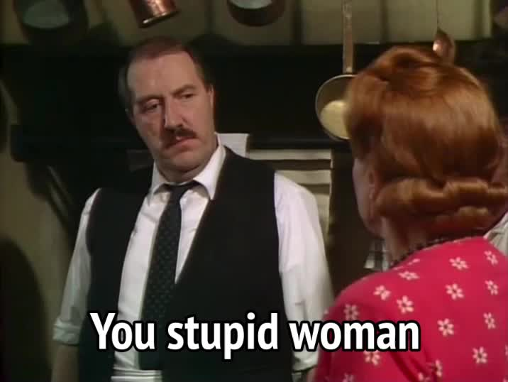allo allo, gorden kaye, insult, insulting, rene artois, allo allo - you stupid woman GIFs