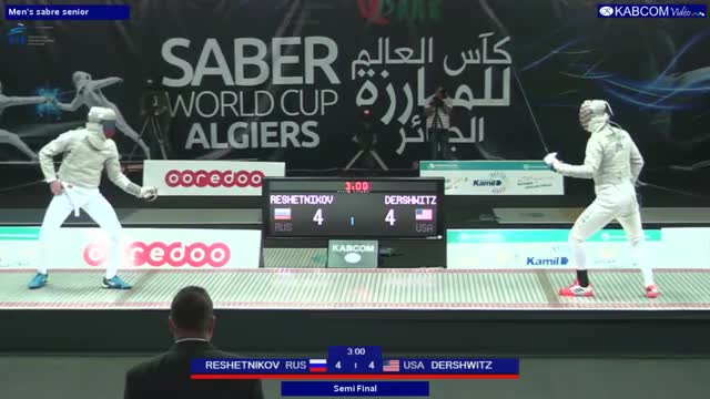 Watch and share Dershwitz Reshetnikov 4-4 2017 Algiers WC GIFs by Sabre Library on Gfycat