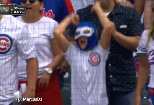 Chicago Cubs fan is hyped