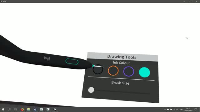 Watch and share Logitech VR Ink – Surface Drawing GIFs by benz145 on Gfycat