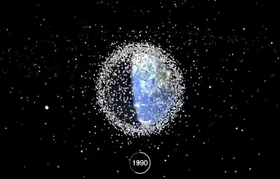 Watch and share Space Debris: 1957 - 2015 GIFs on Gfycat