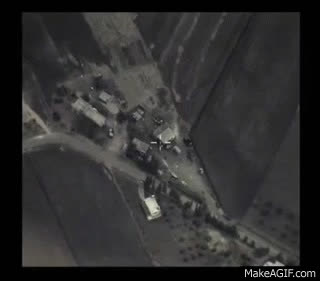above – actual russian airstrike in syria targeting ISIL militants GIFs
