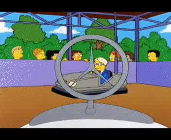 Watch and share Simpsons Bumper Cars GIFs on Gfycat