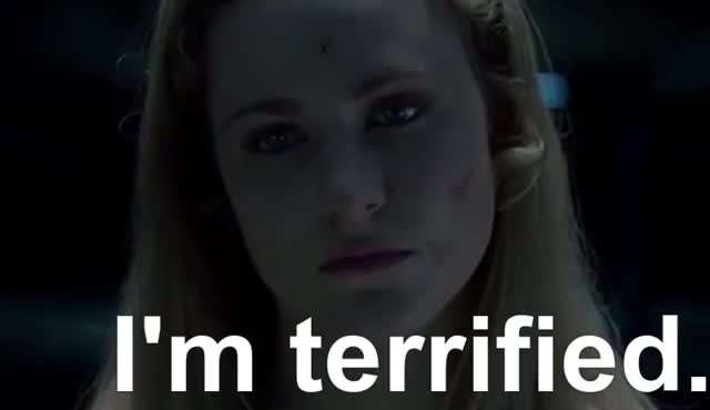 Watch and share Evan Rachel Wood GIFs and Terrified GIFs by ChuckyCheezus on Gfycat