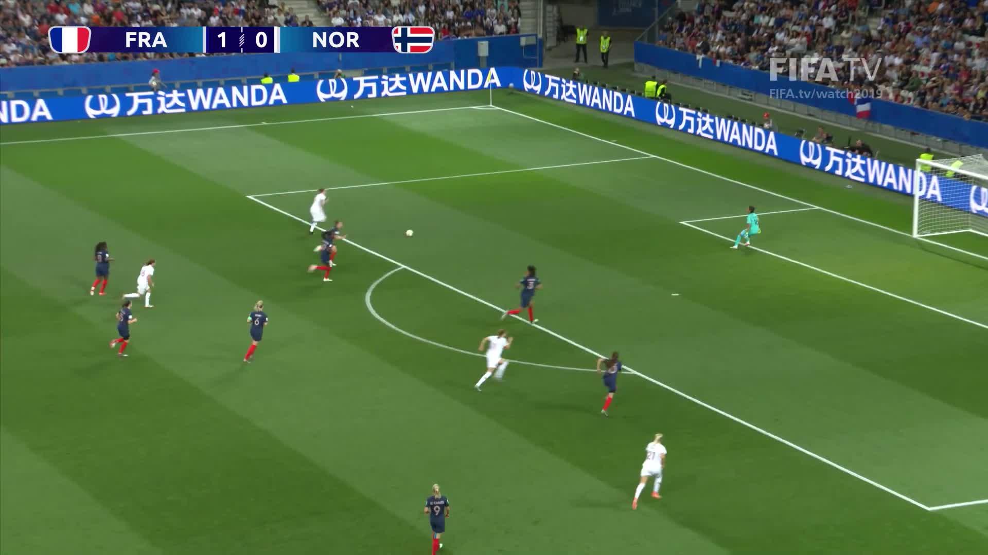 FIFA, FIFA Women's World Cup, FIFA Women's World Cup France 2019, FIFATV, Football, France, France 2019, Goals, Highlights, Match Highlights, Women's Football, Women's World Cup, World Cup, World Cup Highlights, sp:dt=2019-06-12T19:00:00Z, sp:li=wwc, sp:st=soccer, sp:ti:away=NOR, sp:ti:home=FRA, sp:ty=high, France v Norway - FIFA Women's World Cup France 2019™ GIFs