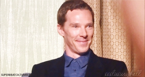 HE IS SO CUTE, bcedit, benedict cumberbatch, even though he was very ill he still did this for fans, i love you, sherlocked, sherlocked con, sherlocked convention, thank god for benny, Benedict Cumberbatch at Sherlocked Convention 25.04.15 (c) GIFs