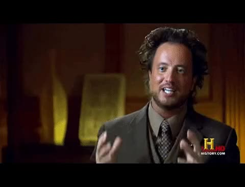 Watch this trending GIF on Gfycat. Discover more ancient aliens, giorgio a. tsoukalos GIFs on Gfycat