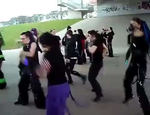 Watch and share Cybergoth Dance Party GIFs on Gfycat