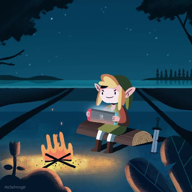 Watch this humanapproved GIF by @michelmroger on Gfycat. Discover more gaming, legend of zelda, loop, nintendo, perfectloop, switch, zelda GIFs on Gfycat