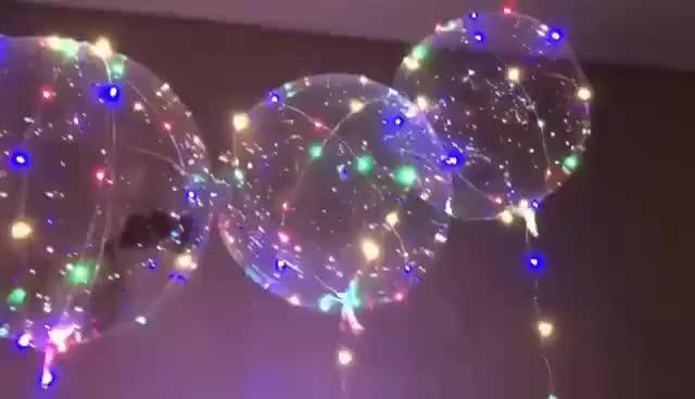 Watch and share LED헬륨풍선/LED풍선/반딧불풍선/전구풍선/파티풍선/이벤트풍선/프로포즈풍선/버블풍선/투명풍선/클리어� GIFs on Gfycat