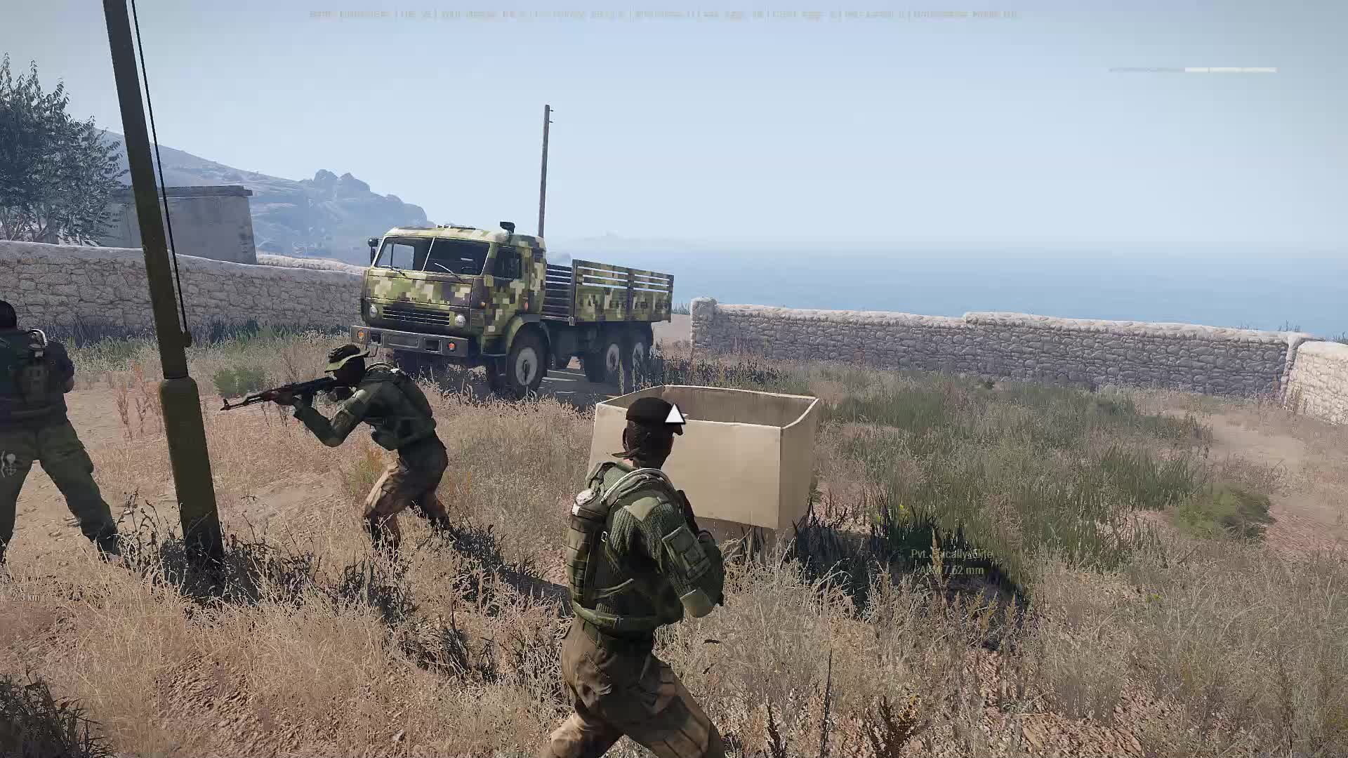 Arma3, Guerrilla's test alternate vehicle transportation 2018 colourised.  GIFs