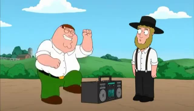 Watch and share Family Guy Highway To HEll Amish Guy GIFs on Gfycat