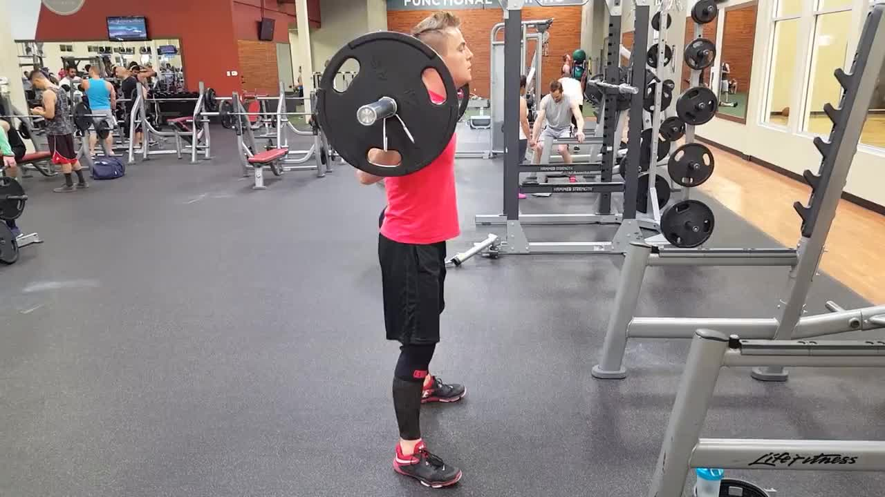 Proper Squatting Form | Squats with Weights GIFs