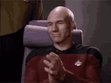 Watch Picard Clap GIF on Gfycat. Discover more patrick stewart GIFs on Gfycat