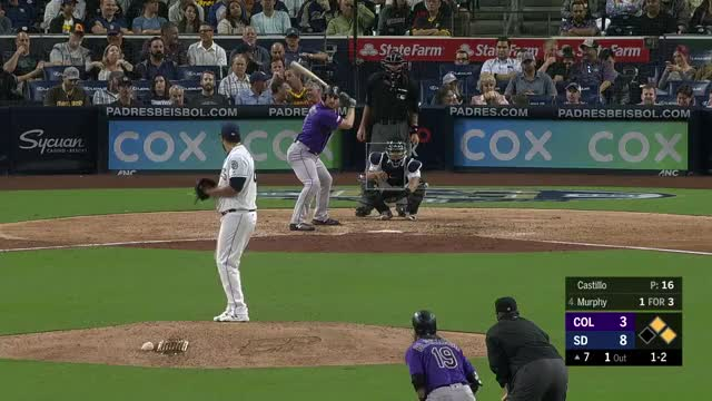 Watch and share Colorado Rockies GIFs and San Diego Padres GIFs by larrybryers31 on Gfycat