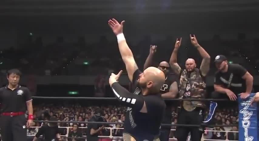 karl, karl anderson, njpw, NJPW Ring Announcing - Machine Gun Karl Anderson GIFs