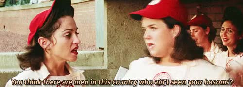 Watch this trending GIF on Gfycat. Discover more 250, a league of their own, aloto*, geena davis, madonna, movies*, rosie o'donnell, ~ GIFs on Gfycat