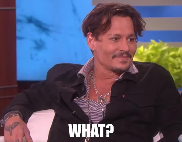 WHAT?, Johnny Depp what? GIFs