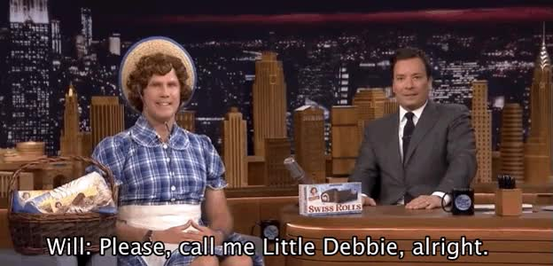 Watch Will Ferrell Is The New Face Of Little Debbie Snack Cakes GIF on Gfycat. Discover more jimmy fallon GIFs on Gfycat