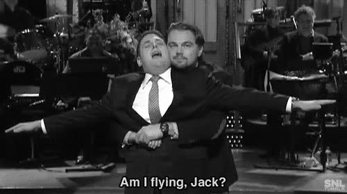 jonah hill, leonardo dicaprio, saturday night live, snl, jonah hill leo gifMore GIFs