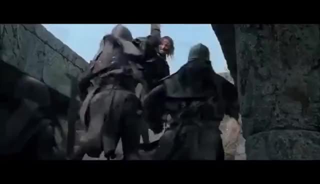 Watch Aragorn vs Uruk Hai GIF on Gfycat. Discover more related GIFs on Gfycat