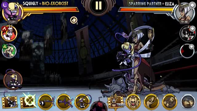 Watch Skullgirls Mobile - Squigly Combo 1 GIF by moisterrific (@moisterrific) on Gfycat. Discover more related GIFs on Gfycat