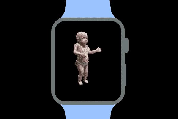 Watch and share Apple Watch Dancing Baby GIFs on Gfycat