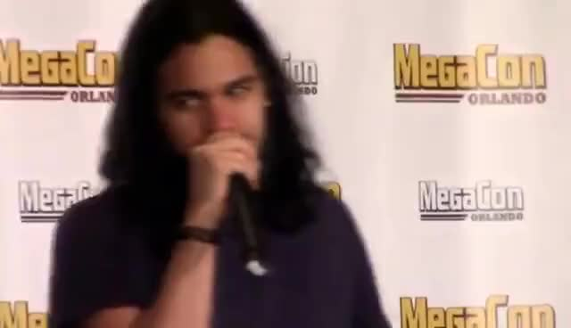 Watch and share Carlos Valdes Panel - Megacon 2016 - FULL GIFs on Gfycat