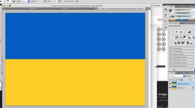Watch and share Ukraine Flag GIFs by highvoltech on Gfycat