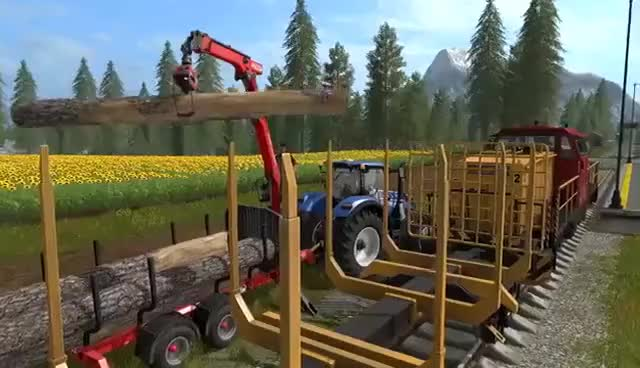 Watch and share Farming Simulator 17 – Gameplay #3 : Life On The Railroad GIFs on Gfycat