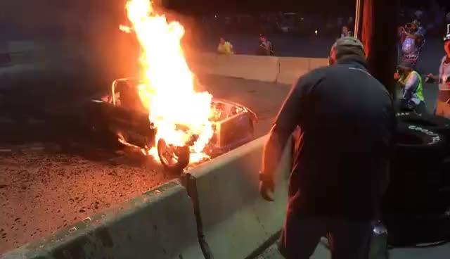 Miata burnout explosion @hyperfest 2017 GIFs