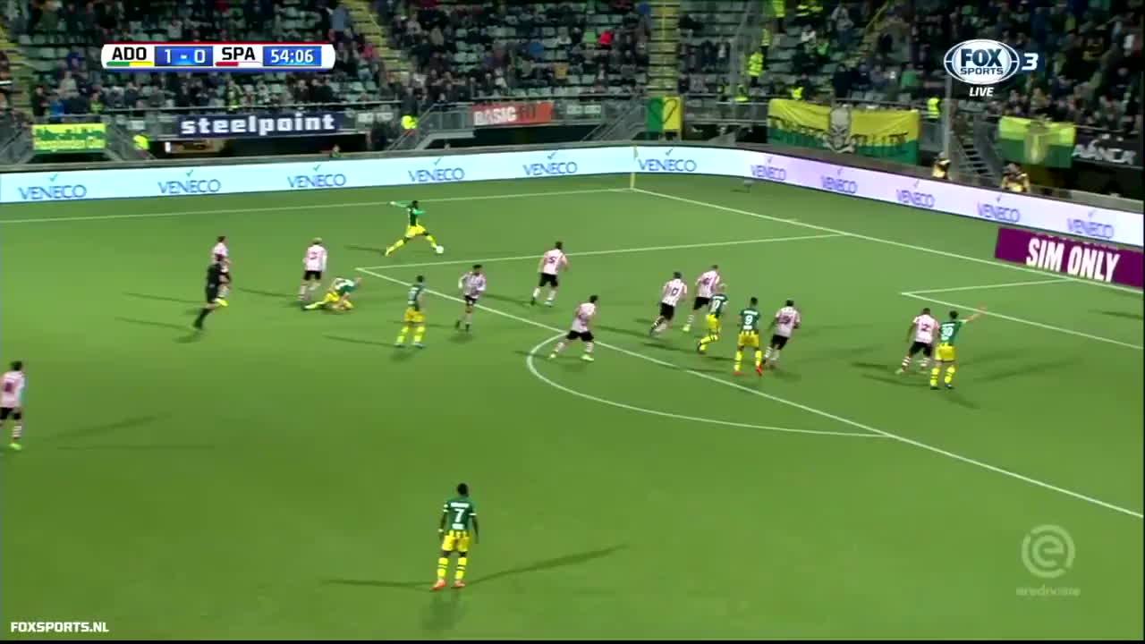 Incredible Goalkeeper Vs Ado Den Haag Gif Gfycat