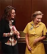 Watch and share Rachel Dratch GIFs and Tina Fey GIFs on Gfycat