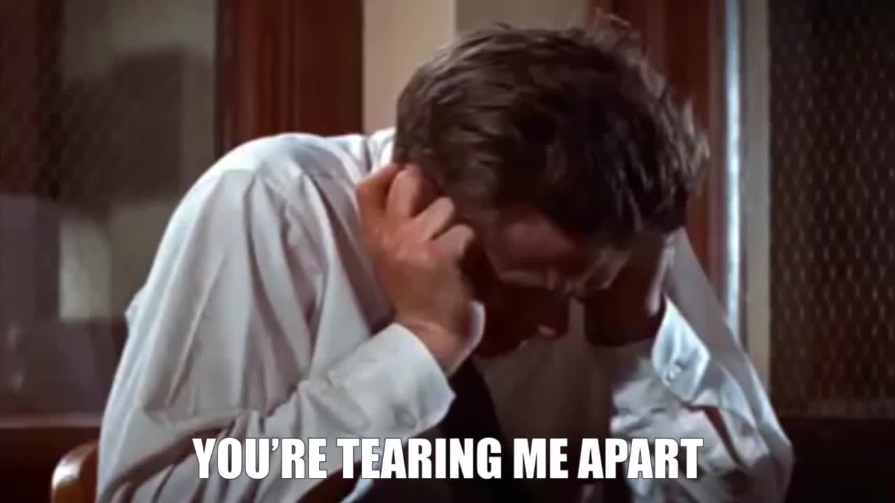 Distress, James Dean classic scene GIFs