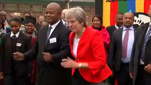 Watch and share Theresa May Gets Down In Cape Town –here's The Dubstep Mix GIFs on Gfycat