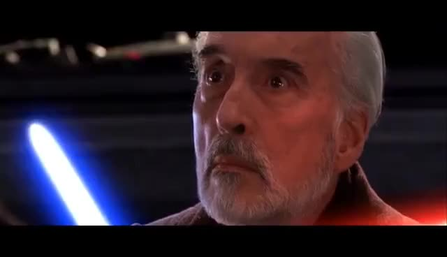 Watch and share Count Dooku Death Scene GIFs on Gfycat