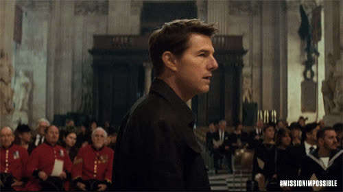 MissionImpossible360, action, blockbuster, epic, m.i., mission: impossible, missionimpossible, movies, paramount pictures, tom cruise, Tom Turning In Church GIFs