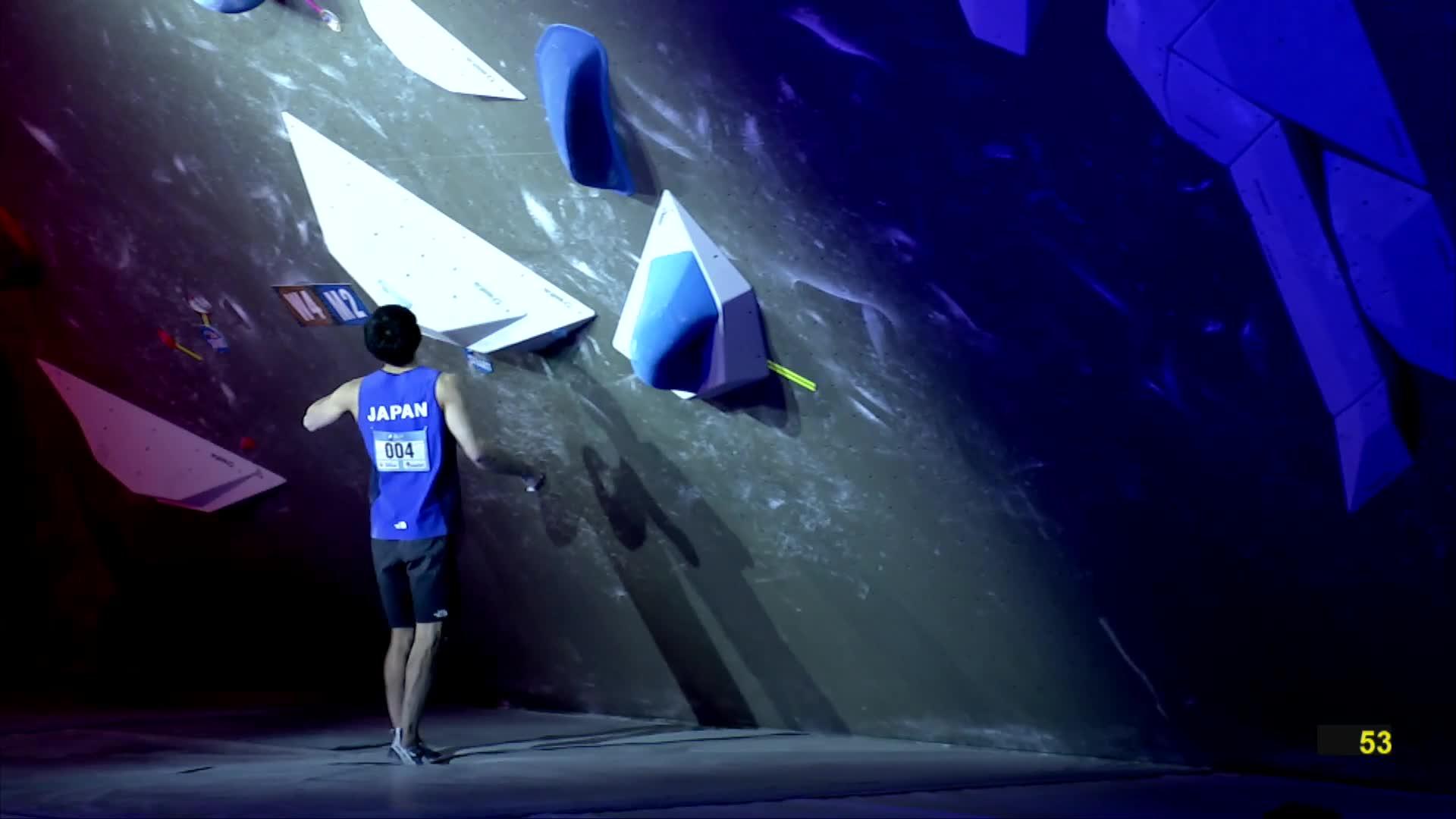 #IFSCwc, 2019, Climbing, IFSC, Sport, meiringen, men, replay, semi-finals, world cup, IFSC Climbing World Cup Meiringen 2019 - Bouldering Finals GIFs