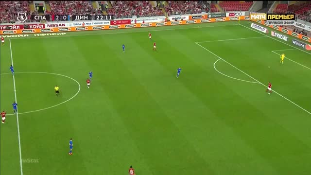 Watch and share 25.08.2018 - Spartak Moskva 2 1 Dinamo Moskva - Match In Ball In Play  Mode - 1st Half, 22 20 - 22 37 GIFs on Gfycat