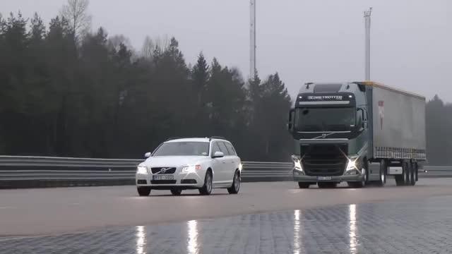 Watch and share Emergency Braking GIFs and Volvo Trucks GIFs on Gfycat