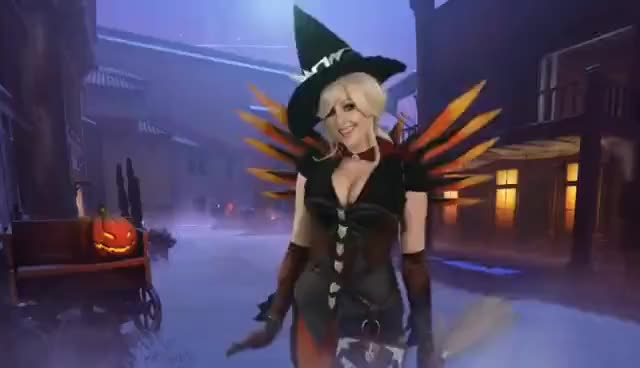 Overwatch Witch Mercy Cosplay Gif Find Make Share Gfycat Gifs