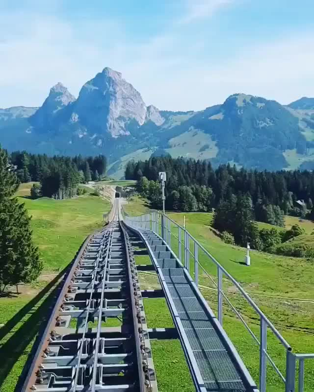 Watch ⠀⠀ The new Stoosbahn Mountainside funicular railway is the steepest in the world! GIF by Jackson3OH3 (@jackson3oh3) on Gfycat. Discover more related GIFs on Gfycat