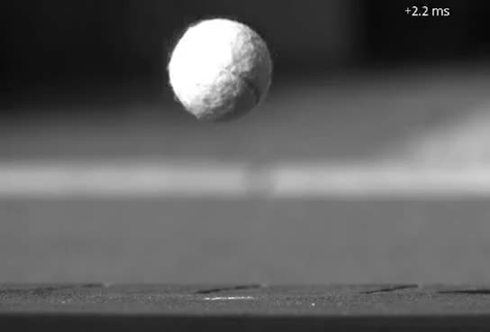 Ball Bouncing In Slow Motion Tennis Ball Gif Find Make Share