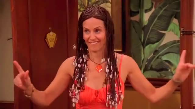 Watch FRIENDS — Monica's Barbados hair (full) GIF by @willem20 on Gfycat. Discover more friends, monica geller, the one in barbados GIFs on Gfycat