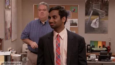 Watch and share Aziz Ansari GIFs and Jim O'heir GIFs on Gfycat